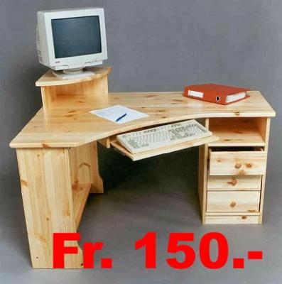 schreibtisch kiefer massiv fr 150. Black Bedroom Furniture Sets. Home Design Ideas