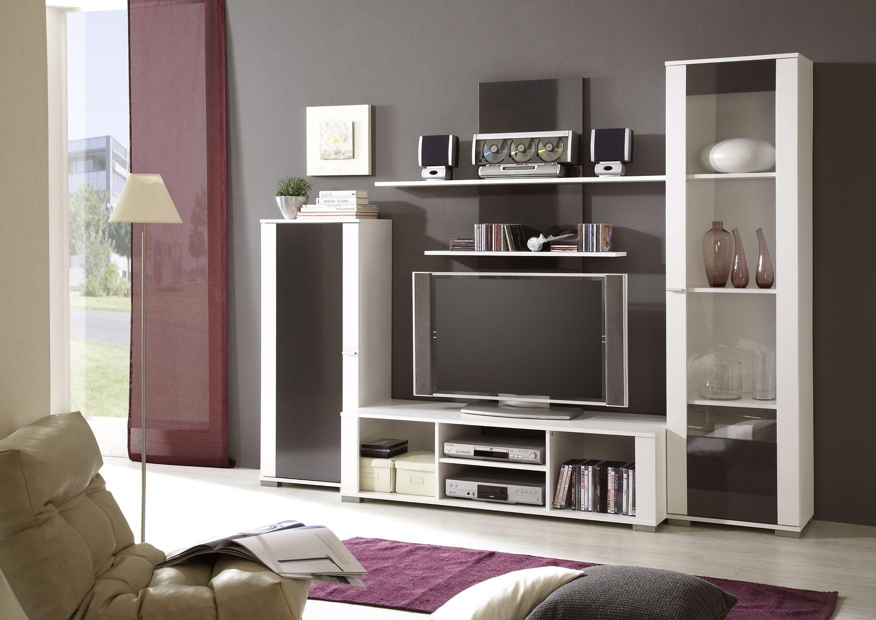 wohnwand jura weiss anthrazit. Black Bedroom Furniture Sets. Home Design Ideas