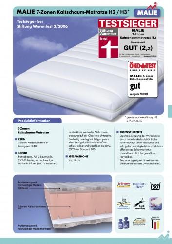 testsieger matratze 7 zonen kaltschaum. Black Bedroom Furniture Sets. Home Design Ideas