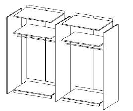 schrank buche mit spiegelt ren fr 299. Black Bedroom Furniture Sets. Home Design Ideas