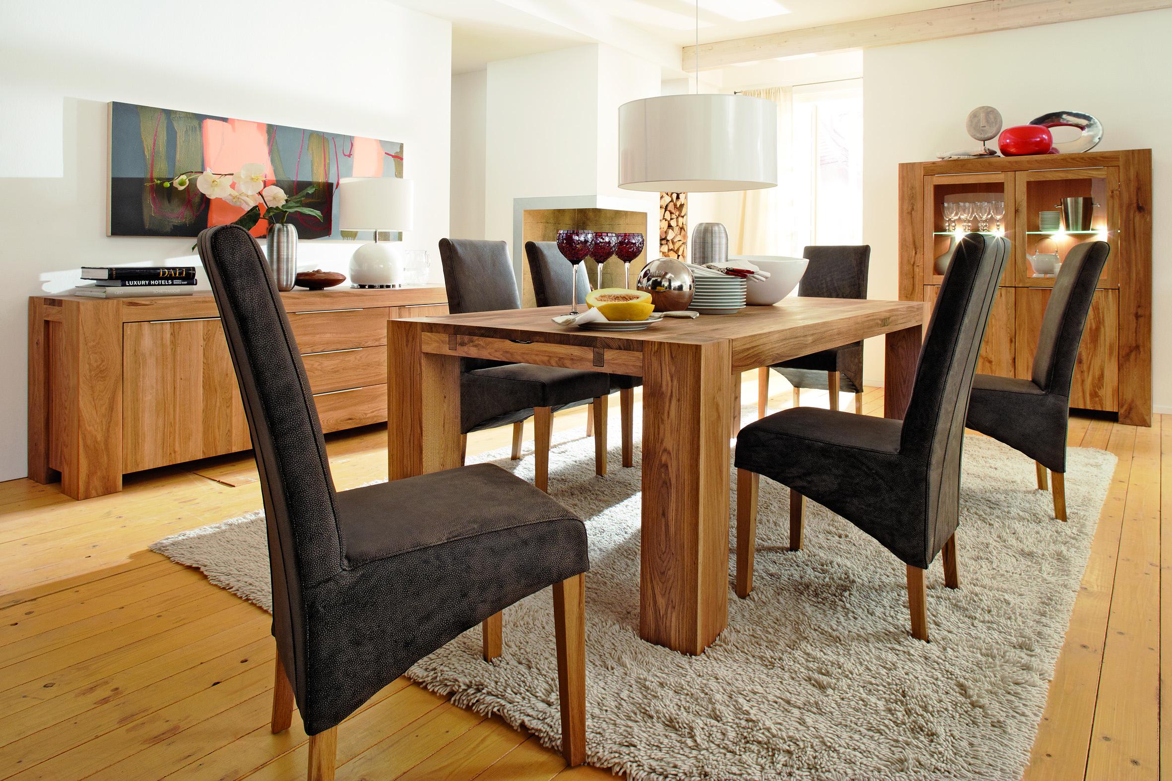 m bel ausstellungsst ck tisch balder eiche massiv 260 x 100 cm. Black Bedroom Furniture Sets. Home Design Ideas