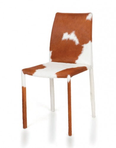 stuhl sessel vacca echtes kuhfell braun oder schwarz. Black Bedroom Furniture Sets. Home Design Ideas