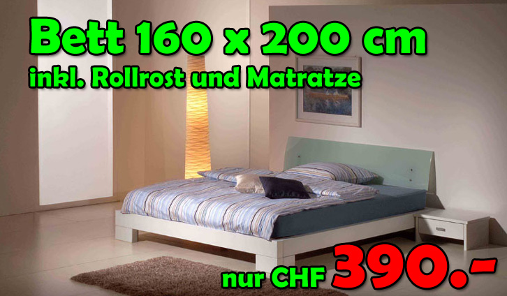 bett komplett 160x200cm inkl 2 nachttische lattenrost und matratze nur fr 390. Black Bedroom Furniture Sets. Home Design Ideas