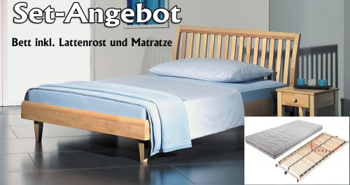 bett inkl lattenrost und matratze bett 180x200 inkl. Black Bedroom Furniture Sets. Home Design Ideas