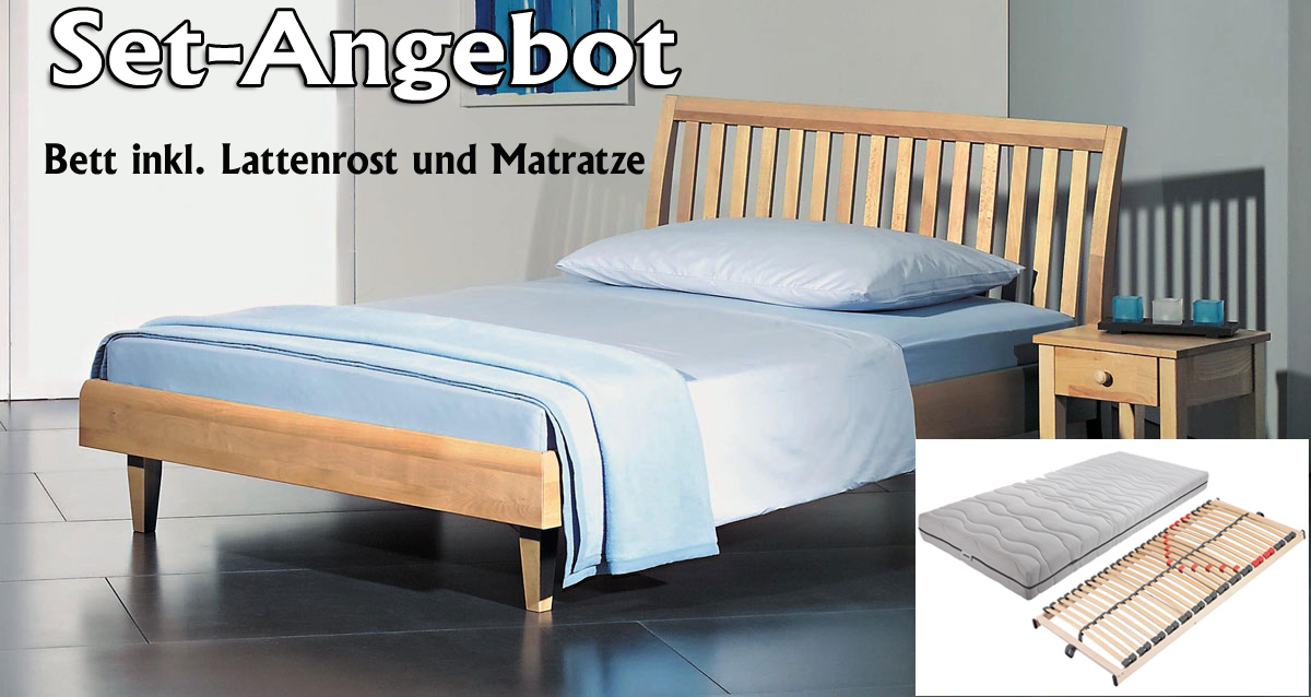 set angebot alpina bett inkl lattenrost und matratze. Black Bedroom Furniture Sets. Home Design Ideas