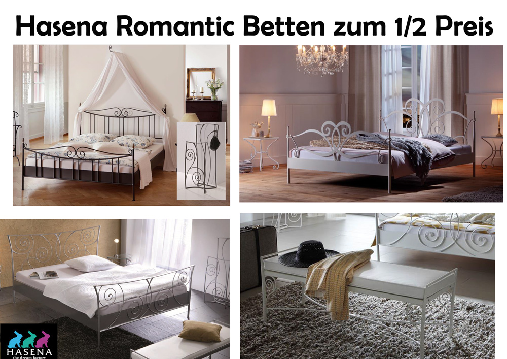 hasena romantic betten zum 1 2 preis. Black Bedroom Furniture Sets. Home Design Ideas